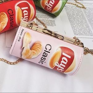 Handbags - 𝕙𝕡! Pink Potato Chip Purse